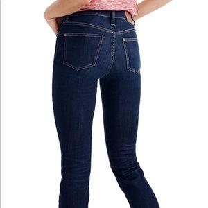 "Madewell 9"" high-rise skinny jean, 27, dark blue"